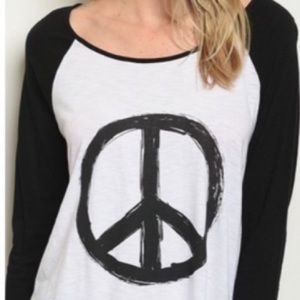 Jersey Style Peace Top